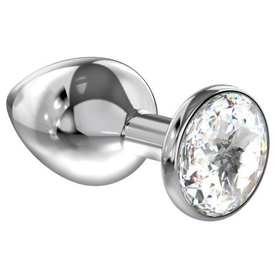Анальная втулка (кристалл белый)