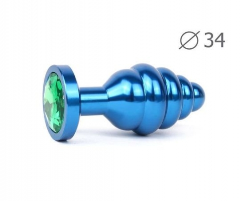 Анальная втулка (синяя кристалл зелёный)