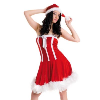 Новогоднее платье и шапочка-S/L