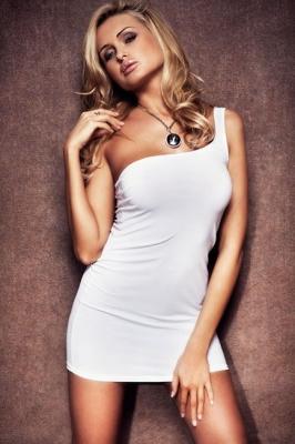 Платье белое-S/M